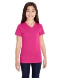 2607 LAT Girls' V-Neck Fine Jersey T-Shirt