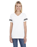 3537 LAT Ladies' Football Fine Jersey T-Shirt