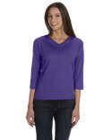 3577 LAT Ladies' 3/4-Sleeve Premium Jersey T-Shirt