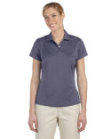 A162 adidas Golf Ladies' climalite Textured Short-Sleeve Polo