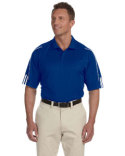 A76 adidas Golf Men's climalite 3-Stripes Cuff Polo