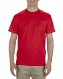 AL1305 Alstyle Adult 6.0 oz., 100% Cotton Pocket T-Shirt
