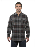 B8210 Burnside Men's Plaid Flannel Shirt