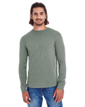 EC1588 econscious Men's Heather Sueded Long-Sleeve Jersey