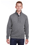 JA8890 J America Adult Quilted Snap Pullover