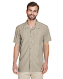 M560 Harriton Men's Barbados Textured Camp Shirt